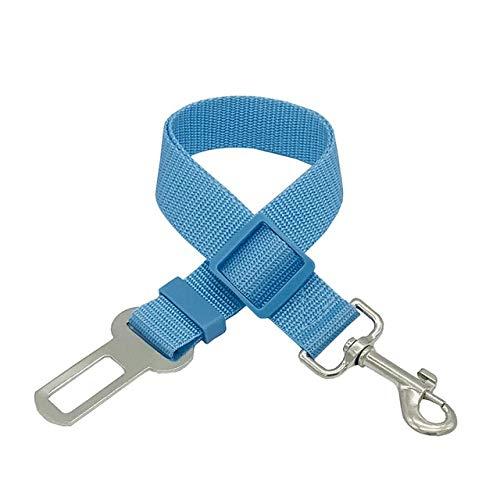 Correa Ajustable para Perros Perro para Mascotas Cinturón de Seguridad para el automóvil Camina Correas Muy duraderas Entrenamiento para el automóvil Perros Grandes, medianos y pequeños - Azul