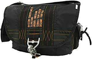 Messenger Bag – Officine Military Shoulder Courier Bag – Black