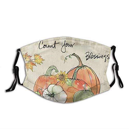 Jopath Seien Sie dankbar - Gesicht Sturmhaube Schal, waschbare Wiederverwendbare Bandanas mit 2 austauschbaren Teilen, für Männer Frauen Outdoor-BeThankful-1PCS