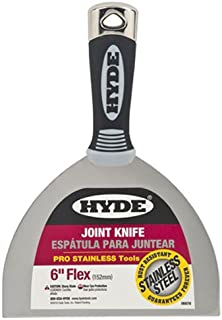 "HYDE 06878 Joint Knife,Flexible, 6"", Black"