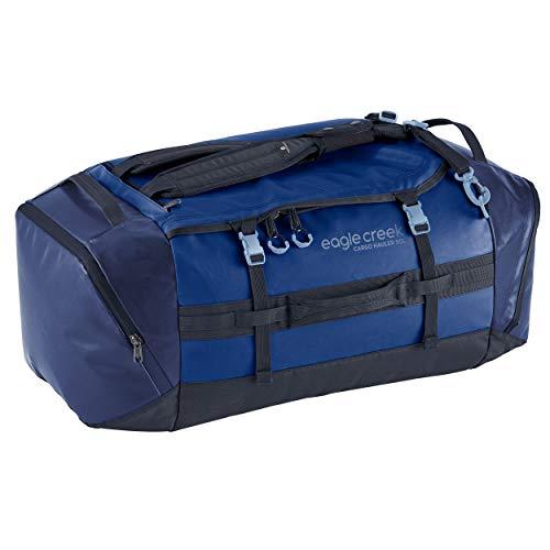 Cargo Hauler - superleichte Reisetasche mit 90 L Volumen I Robuster Rucksack für Camping und Outdoor I abrieb- & wasserbeständiges Gewebe, Arctic Blue
