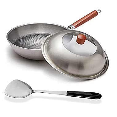 shanhe latest stainless pot steel wok, stew, cook, non-stick, no rust, uniform heating, your good kitchen assistant
