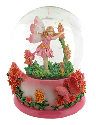 Lutèce Créations 14284 - Bola de nieve musical de cristal y polimetálica con hada de flores,...