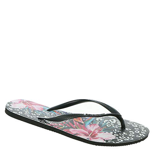 Havaianas Women's Slip-On Flip-Flop, Black, 9-10