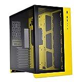 Lian Li PC-O11 Dynamic Tempered Glass eATX Full Tower Computer Case - Yellow