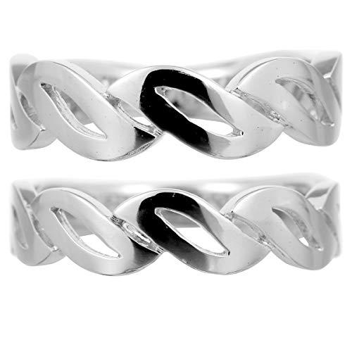 [ココカル]cococaru ペアリング 2本セット K18 ホワイトゴールド 結婚指輪 日本製 (レディースサイズ3号 メンズサイズ11号)