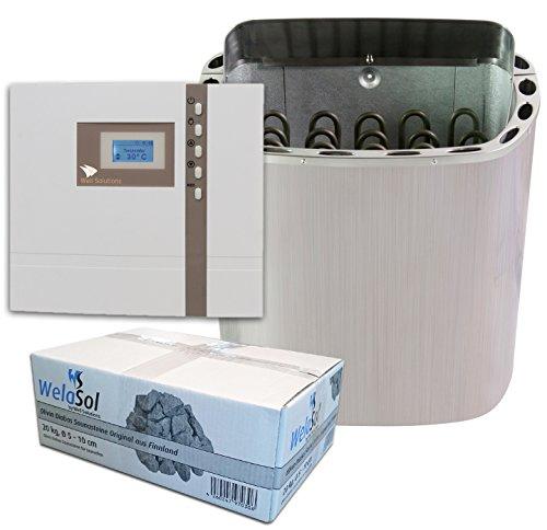 Well Solutions® Saunaofen Scandia Next 8 kW mit EOS Saunasteuerung ECON D1