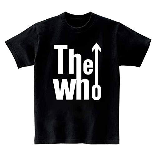 [10色]BANDLINE(バンドライン) The Who ザ フー バンド ロック パンク メタル 半袖Tシャツ ブラック Lサイズ