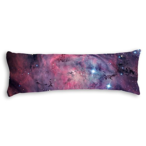 AILOVYO Space Nebula Universe Pattern Retro Galaxy Tribal Machine Washable Polyester Decorative Body Pillow Case Cover, 20-Inch x 54-Inch