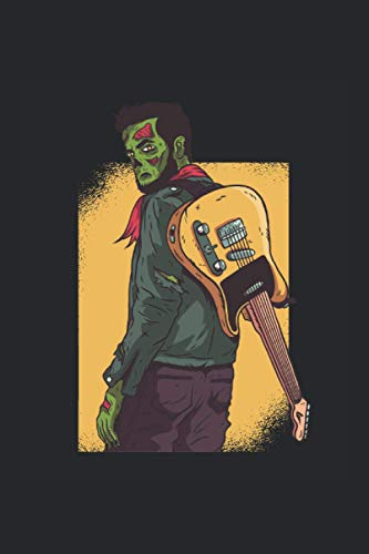 Zombie Gitarre: Din A5 Zombie Notizbuch Halloween Gitarre Geschenk mit 120 Seiten