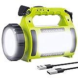Novostella Torcia Lanterna LED 3 in 1, Lampada LED Ricaricabile USB Impermeabile Luce LED Portatile,...