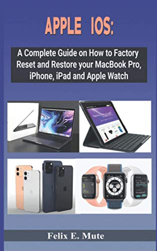 APPLE IOS:: A Complete Guide on How to Factory Reset and Restore your MacBook Pro, iPhone, iPad and Apple Watch