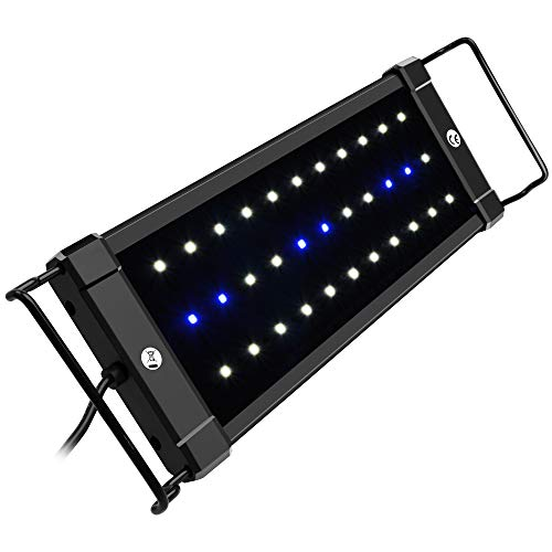 NICREW ClassicLED Aquarium Light, Fish Tank Light with Extendable Brackets, White and Blue LEDs, Size 12 to 18 Inch, 6 Watts