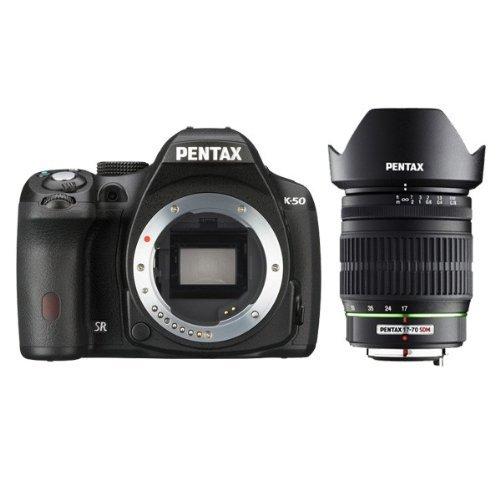 Pentax K-50+ SMC DA 17–70F/4SDM-Set Kamera SLR 16.28MP CMOS 4928x 3264pixels schwarz–Digitalkameras (16,28MP, 4928x 3264Pixel, CMOS, Full HD, 590g, schwarz)