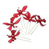 5X Horquillas de Flores Guirnalda Cilp de Pelo Adorno para Cabello Decoración Nupcial Boda - Rojo
