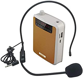 Alician Rolton K300 Portable Voice Amplifier Waist Band Clip with FM Radio TF MP3 Player Power Bank for Tour Guides Teaching Microphone Orange