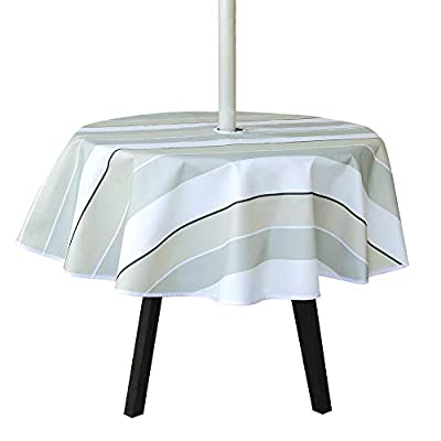Amazon - 60% Off on Stylish Round Umbrella Tablecloths with Hole and Zipper for Umbrella Table