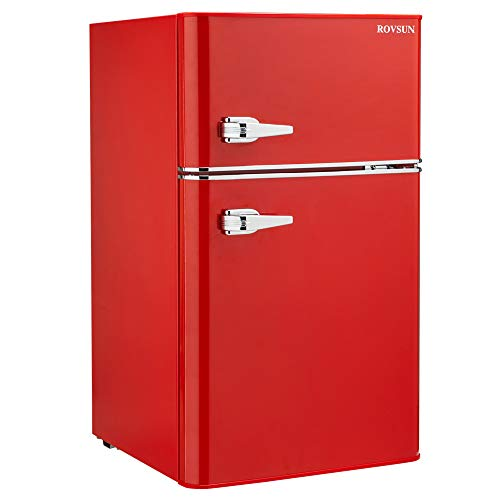 Red Compact Refrigerator