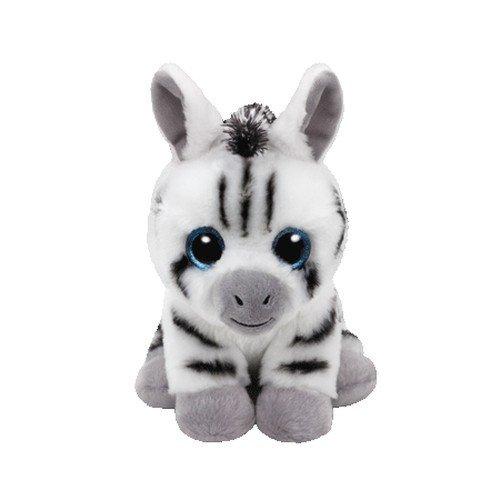 TY Stripes 41198 Zebra mit Glitzeraugen, Weiß/schwarz