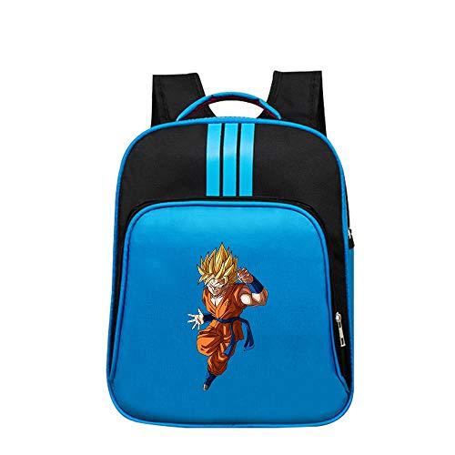 Dragon Ball Mochila Casual Mochila de Colores Mochila Escolar Primaria for niñas, niños, Dibujos Animados, patrón, Bolsa de Deporte de Viaje Unisex (Color : Blue03, Size : 32 X 14 X 40cm)