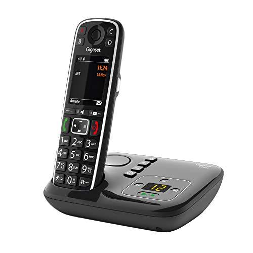 Gigaset E720A - Schnurloses Premium Seniorentelefon mit Anrufbeantworter - sprechende Wähltasten - Nummernansage & Namensansage - Anrufübertragung per Bluetooth 4.2, schwarz