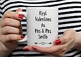 N\A Regalo de San Valentín Personalizado. Taza de San Valentín. Regalo de San Valentín. Taza Parejas. Regalo para Parejas. Primer Matrimonio de San Valentín. Pareja del Mismo Sexo