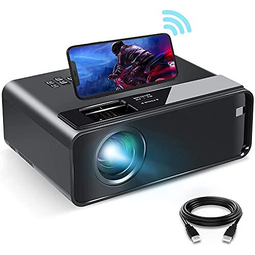 DOOK Proyector WiFi, Proyector Portátil, Soporta 1080p Full HD, Cine en Casa 200' Duplicar Pantalla Proyector Inalámbrico Cine para Android/iPhone Smartphone iPad,HDMI/USB/VGA/AV/SD