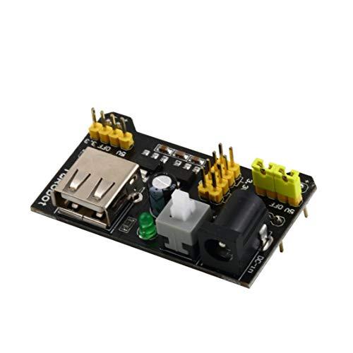 LouiseEvel215 Modulo di Alimentazione per breadboard MB102 3.3V / 5V Professional per breadboard a saldare 6.5-12 V (DC) o Alimentatore USB