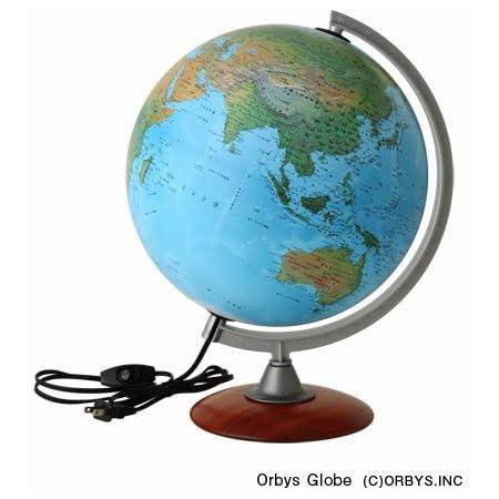 ORBYS 地球儀 スペース30L ライト付 球径30cm 地勢図 43260