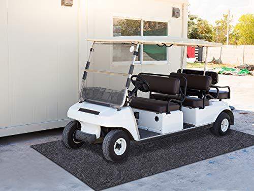 Sensko Garage Floor Mat,Shearable,Absorbent Oil Mat—Floor Mat for Golf Carts,Indoor Parking Mat-Absorbent Felt and Leak-Resistant Anti-Slip Backing,Washable(5.9 ft x 14.7 ft)