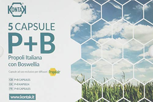 Kontak Propoli + Boswellia Capsule Per Diffusori Ambientali, 5 capsule