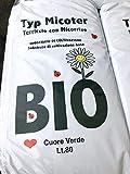 VIALCA TERRICCIO con MICORRIZE Biologico E Professionale Typ MICOTER Sacco LT.80 Circa 25KG