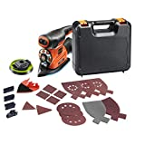 BLACK   DECKER KA280K-QS Autoselect Corded 4-in-1 Multi-Sander, 17 Abrasives, Supplied in Case, 220 watts