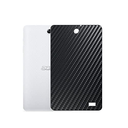 VacFun 2 Piezas Protector de pantalla Posterior, compatible con Acer Iconia One 8 B1-870 8', Película de Trasera de Fibra de carbono negra Skin Piel