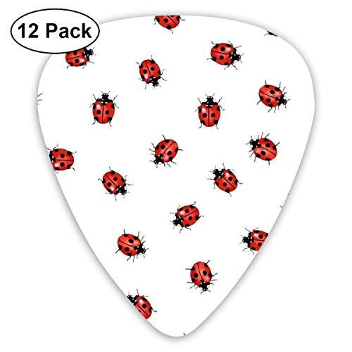 Selecciones de guitarra Ladybug 12 selecciones de ukelele, incluyendo 0.46 mm, 0.71 mm, 0.96 mm guitarra acústica