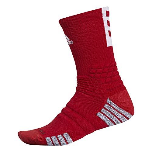 adidas Unisex-US Creator 365 - Calcetines de baloncesto (1 par), color rojo y blanco, 12-16