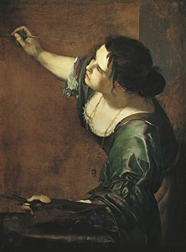 "Artemisia Gentileschi Self-Portrait as The Allegory of Painting 1639 Royal Collection Trust UK - Windsor Castle 30"" x 22"" Fine Art Giclee Canvas Print (Unframed) Reproduction"