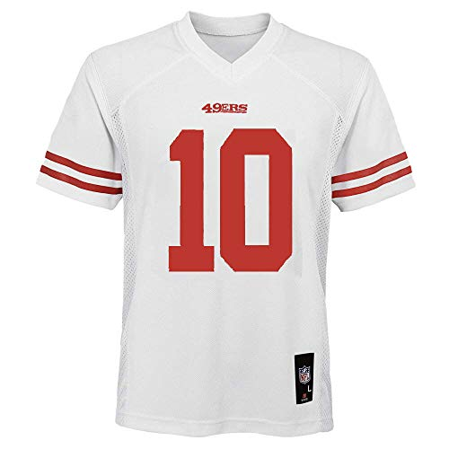 Jimmy Garoppolo San Francisco 49ers #10 White Youth Away Mid Tier Jersey (X-Large 18/20)