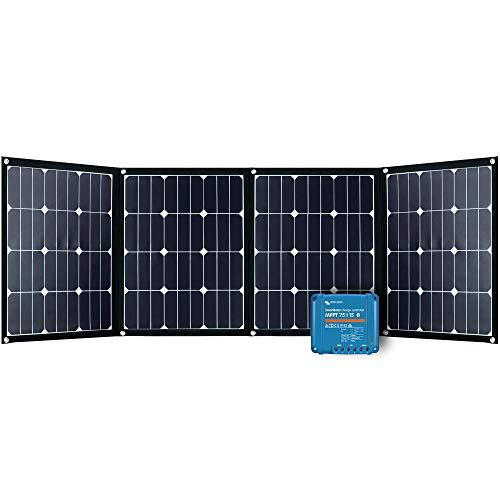 Offgridtec FSP-2 Ultra KIT 160W Faltbares Solarmodul mit Victron MPPT Smartsolar 75/15 Aufständerung integriert