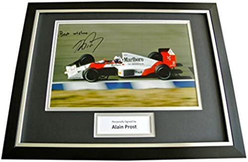 Sportagraphs ALAIN PROST HAND SIGNED & FRAMED AUTOGRAPH PHOTO DISPLAY FORMULA 1 RACING & COA