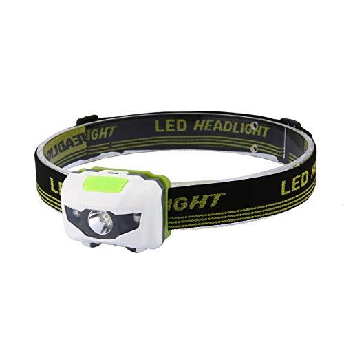 Ashley GAO Linterna de Cabeza LED Lámpara de Faro CE Faro de inducción para Acampar Alimentado por batería para Acampar Senderismo Pesca al Aire Libre