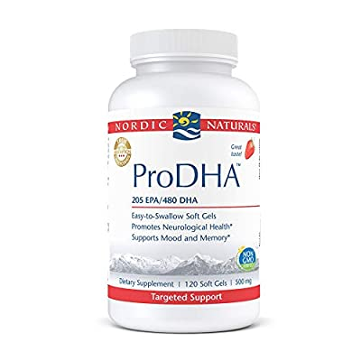 Nordic Naturals ProDHA, Strawberry - 120 Soft Gels - 830 mg Omega-3 - High-Intensity DHA Formula for Neurological Health, Mood & Memory - Non-GMO - 60 Servings