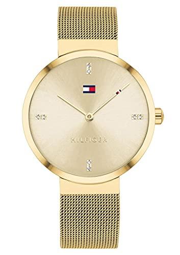 Tommy Hilfiger Reloj Analógico para Mujer de Cuarzo con Correa en Acero Inoxidable 1782217