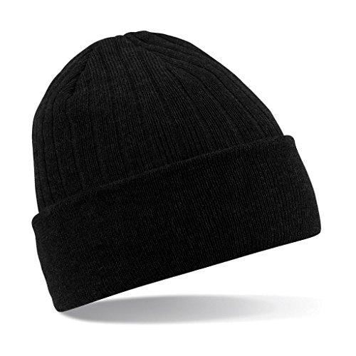 Beechfield B447.BLK Thinsulate Bonnet Mixte, Noir, Taille Unique