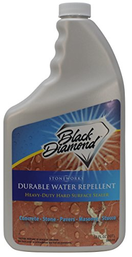 Durable Water Repellent Penetrating Sealer: Concrete Driveways, Brick, Masonry, Pavers. Protects Surface up to 10 Years. Black Diamond Stoneworks. (1-Quart)