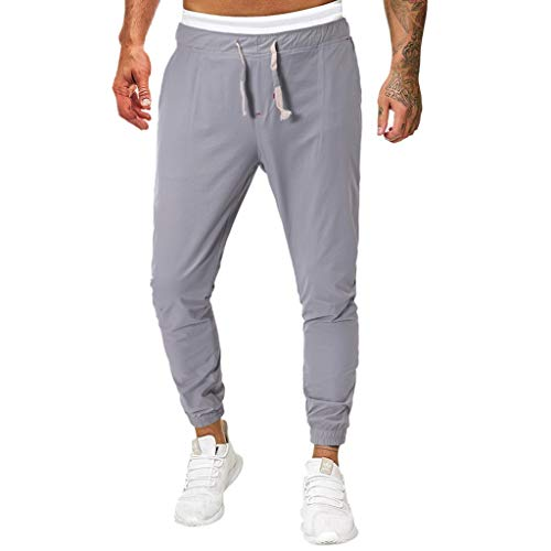 manadlian Homme Pantalon de Sport Grande Taille Jogging Elastique Gym Fitness Sweatpants Transpiration Jog Pantalons Entraînement Casual Baggy Sweater Pants Garçon Vêtement
