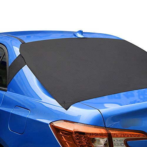 ALTITACO Car Rear Windshield Snow Cover, Rear Windscreen Snow Ice Cover Protector with Flaps and 4 Magnets, Sun Shade Protector Exterior Shield Guard Fits Most Cars, Trucks, SUV and Vans
