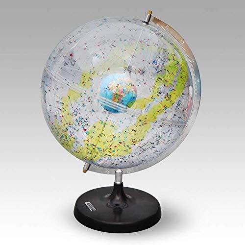 MHCYKJ 32cm ciencia popular globo celeste transparente HD constelación globo estudiante geografía instrumento de enseñanza instrumento de constelación