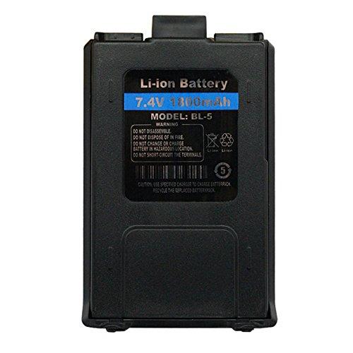 Baofeng Pofung BL-5 7.4V 1800mAh Battery Batterie Pack for UV-5R UV-5RE UV-5R Plus UV-5RTP UV-5RA BF-F8 BF-F8HP BF-F8+ Ham Transceiver Two-Way Radio Walkie Talkie, Original, Black