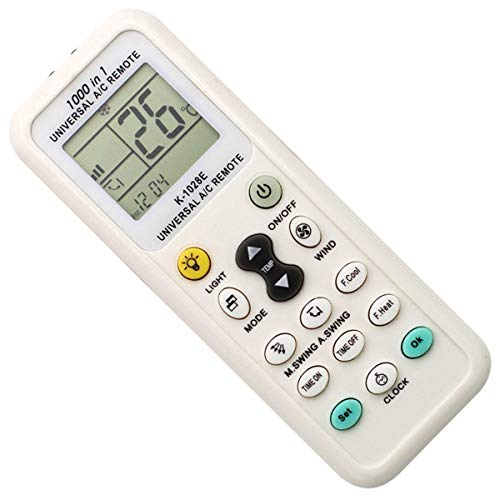 Coyaho Universal Air Conditioner Remote Control for Gree, Midea, Kelong, Chigo and 1000 More Models